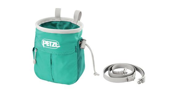 Petzl Sakapoche chalkbag turquoise